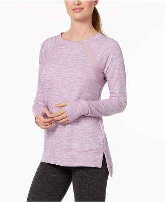 Ideology Mesh-Inset Step-Hem Top, Created for Macy's