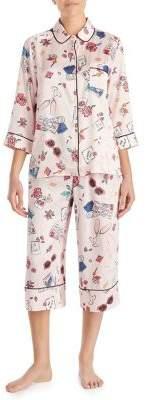 Kate Spade Printed Crop Pajamas