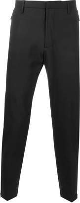 Emporio Armani tapered zip detail trousers