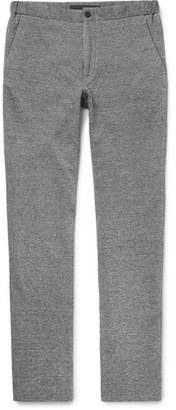 Incotex Slim-Fit Mélange Cotton And Linen-Blend Trousers