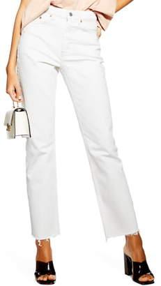 Topshop High Waist Straight Leg Jeans