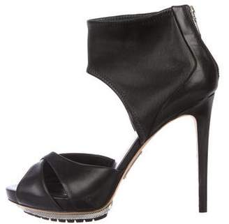 Alejandro Ingelmo Leather Ankle Cuff Sandals