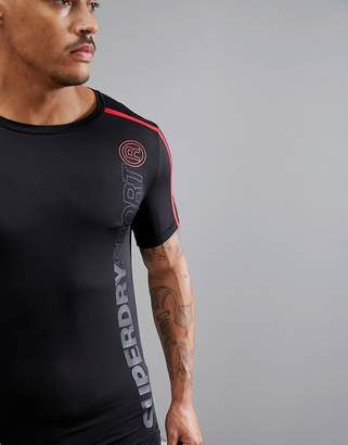 Superdry Sport T-Shirt With Red Stripe