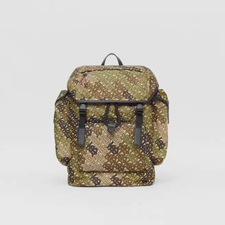 Burberry Medium Monogram Print Nylon Backpack