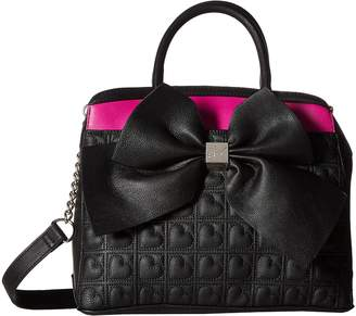 Betsey Johnson Belted Bow Satchel Satchel Handbags