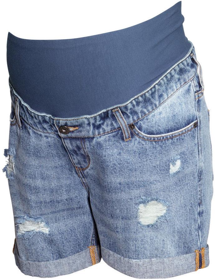 H&M - MAMA Denim Shorts - Light denim blue - Ladies