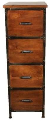 Y Decor Rustic 4 drawer filing cabinet