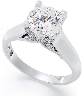 X3 Certified Diamond Solitaire Engagement Ring in 18k White Gold (2 ct. t.w.), Created for Macy's
