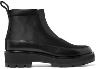 3.1 Phillip Lim Avril Leather-trimmed Satin Ankle Boots