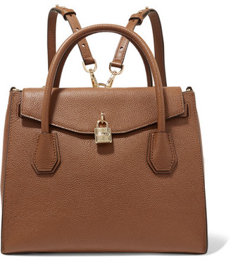 MICHAEL Michael Kors - Mercer Convertible Textured-leather Backpack - Tan $358 thestylecure.com