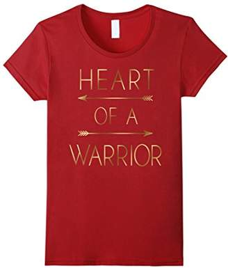 Heart Of A Warrior Gold Texture Arrows Graphic T-Shirt