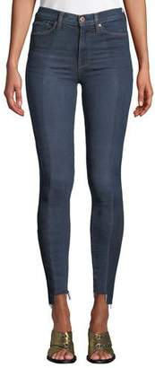 Hudson Barbara High-Rise Skinny Step-Hem Ankle Jeans - Enhance Denim