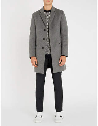 HUGO Single-breasted wool and cashmere-blend coat