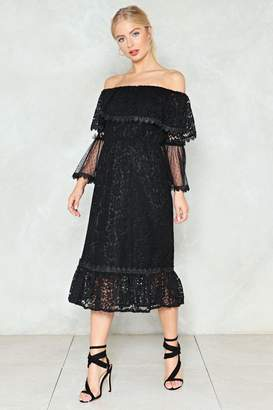Nasty Gal Look Who's Tier Lace Dress