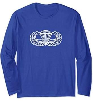 Airborne Paratrooper Jump Wings Long Sleeve Shirt