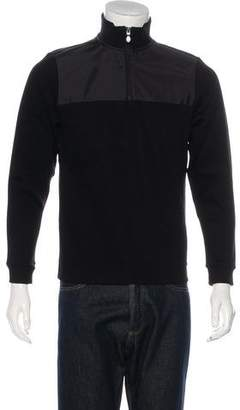HUGO BOSS Boss by Zip-Up Woven Sweater