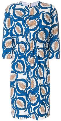Marni leaf print dress