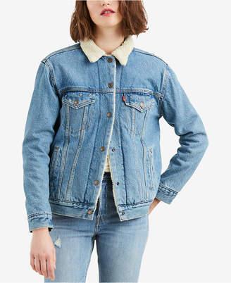 Levi's Ex-Boyfriend Fleece Denim Jacket