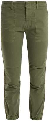 Nili Lotan Mid-rise stretch-cotton military trousers