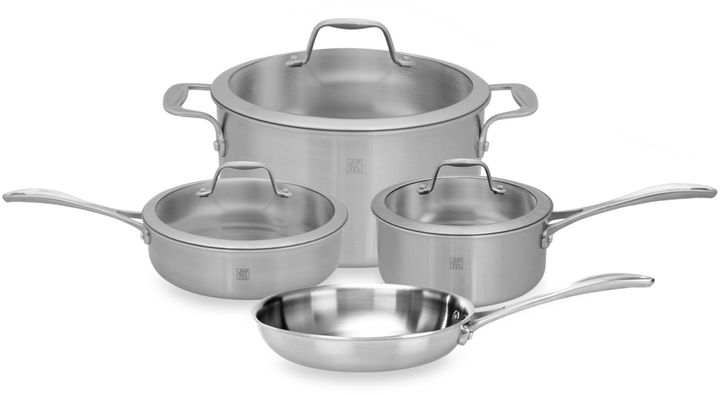 Zwilling J.A. Henckels Spirit 7-Piece Stainless Steel Cookware Set and Open Stock