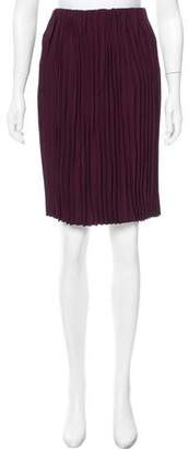Miu Miu Plissé Knee-Length Skirt