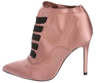 Pedro Garcia Satin Ankle Boots