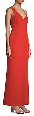 BCBGMAXAZRIA Women's Asymmetric Shoulder Maxi Dress