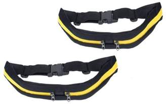 Generic Adjustable Waist Pack Pocket No-Bounce Running Belt for Runners Athletes and Adventurers -2 Pack