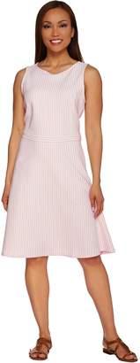 Isaac Mizrahi Live! Striped Knit Sleeveless Dress