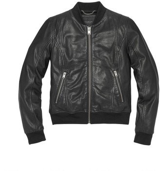 Andrew Marc WYNN LEATHER BOMBER JACKET