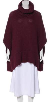 Dolce & Gabbana Heavy Knit Turtleneck Poncho
