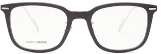 Christian Dior Sunglasses - Disappear D Frame Acetate Glasses - Mens - Black
