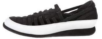 Stuart Weitzman Suede Slip-On Sneakers