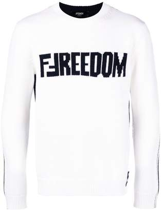 Fendi logo knitted sweater