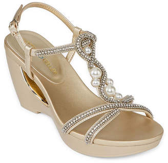 Andrew Geller Allisandra Womens Wedge Sandals