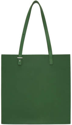 Pb 0110 Green Embossed Leather Tote