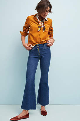 MiH Jeans Marrakesh Mid-Rise Cropped Flare Jeans