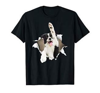 Border Collie Torn T Shirt