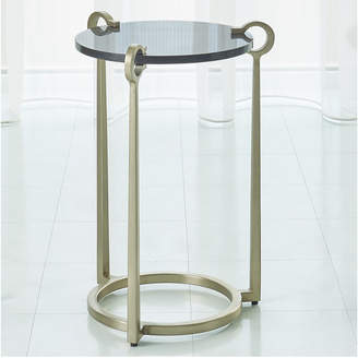 Global Views Round Clamp Accent Table