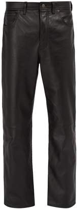 Acne Studios Straight-leg leather trousers