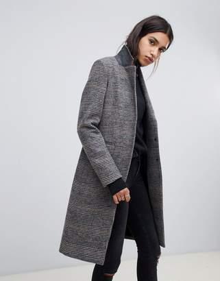 AllSaints indra check coat