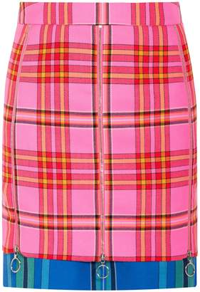 House of Holland Tartan Zip Skirt