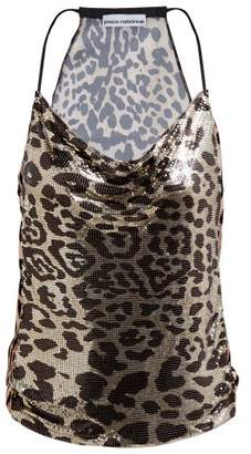 Paco Rabanne Leopard Print Tie Back Chain Top - Womens - Leopard