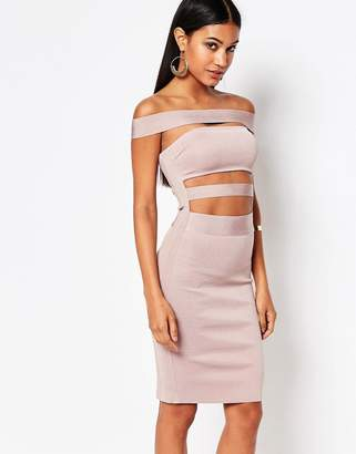 Wow Couture Off Shoulder Bandage Dress