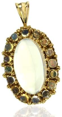 14K Yellow Gold Mexican Opal Pendant