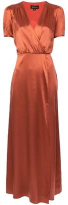 Saloni wrap evening dress