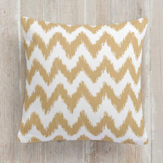 ikat chevron Square Pillow