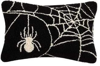 The Holiday Aisle Mckernan Spider Web Hook Wool Lumbar Pillow
