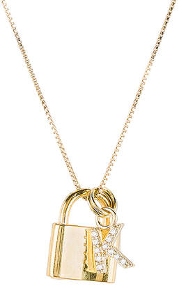 The M Jewelers NY The Lock K Initial Necklace