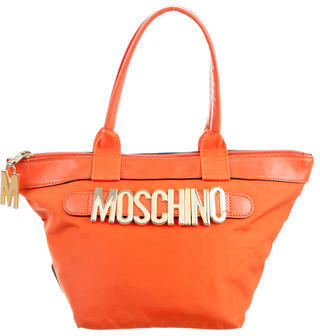 Moschino Moschino Leather-Trimmed Handle Bag